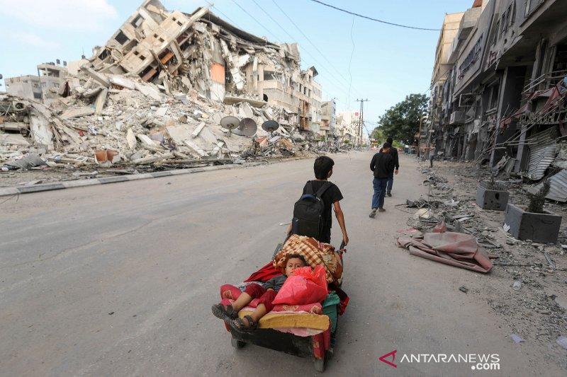Akibat serangan udara Israel, anak-anak di Gaza alami trauma