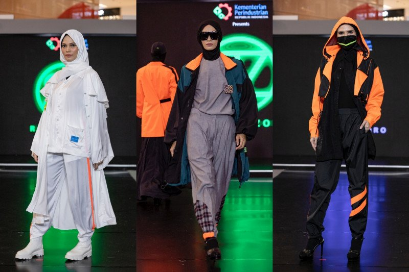 Busana muslim kasual gaya futuristik hingga musim semi penuh bunga