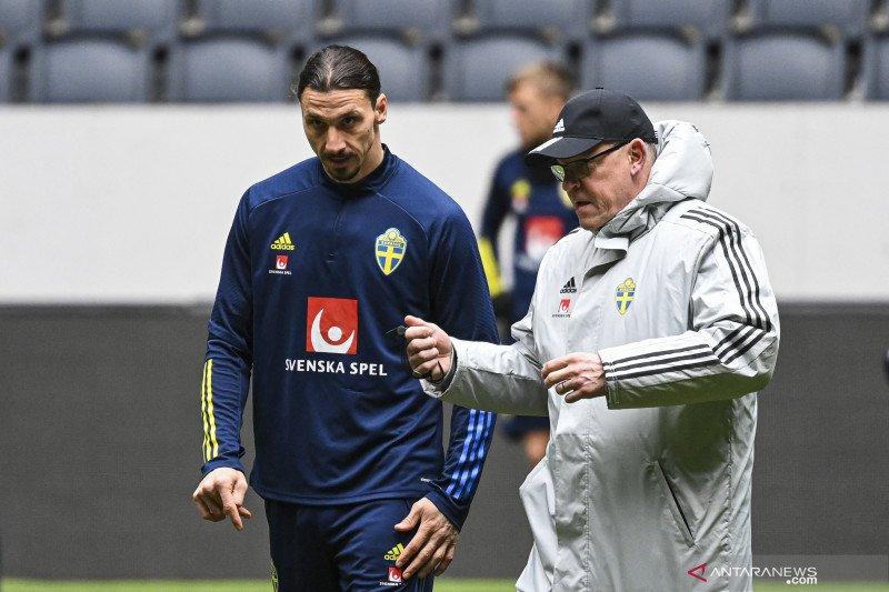 Zlatan Ibrahimovic tidak akan perkuat Timnas Swedia di Euro 2020