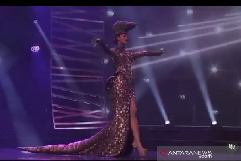 Warganet merinding saksikan Kostum Komodo Ayu Maulida Putri di Miss Universe 2020