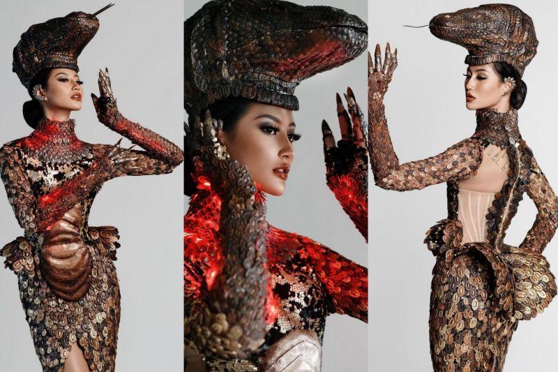 """Ini detail kostum nasional """"Komodo"""" pada ajang Miss Universe 2020"""