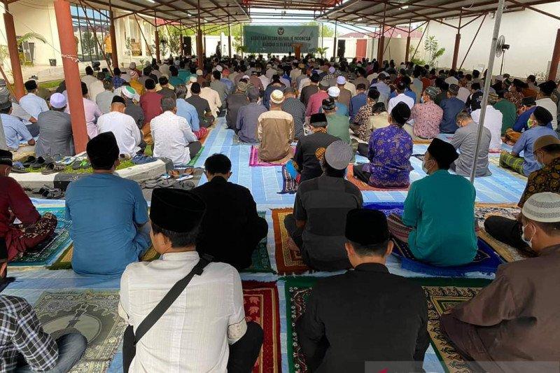Ratusan WNI ikuti shalat Ied di KBRI Bandar Seri Begawan pada Jumat
