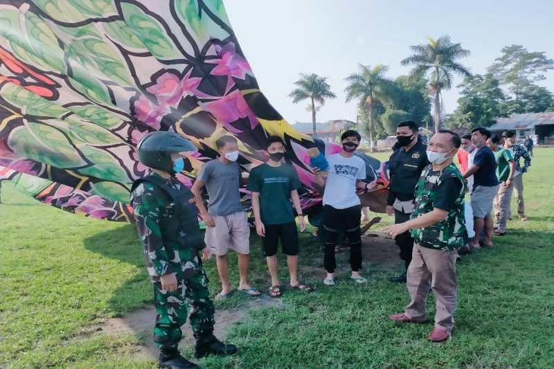 Tim gabungan sita balon udara siap diterbangkan di Wonosobo