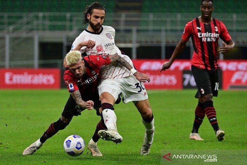 Cagliari gagalkan upaya AC Milan kunci tiket Liga Champions