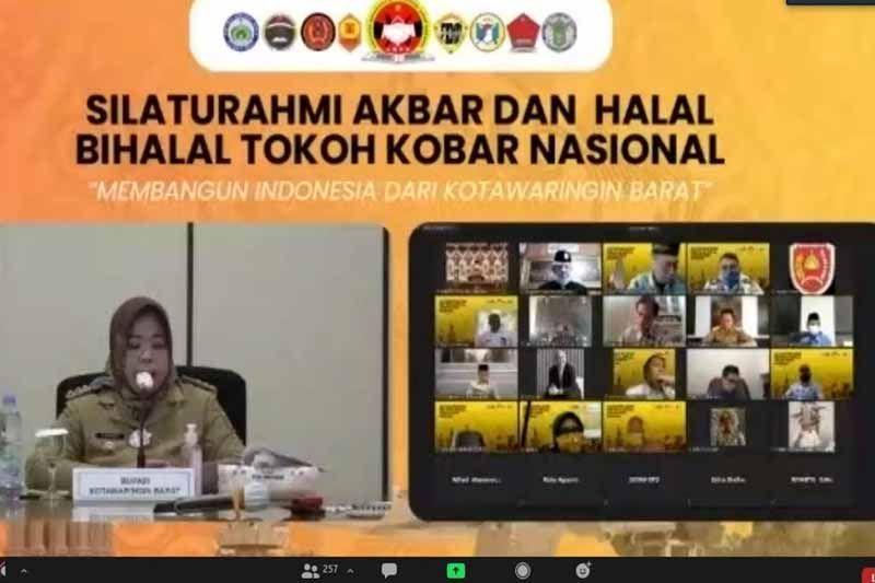 Menteri dan Bupati hadiri silaturahmi virtual yang digelar HIMA Kobar