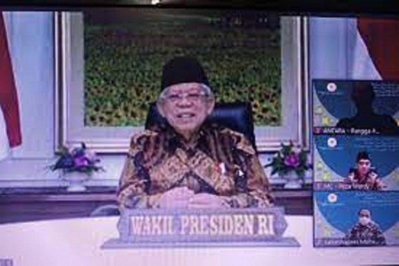 Wapres Ma'ruf Amin gelar acara halal bihalal virtual dengan jajaran Setwapres dan media