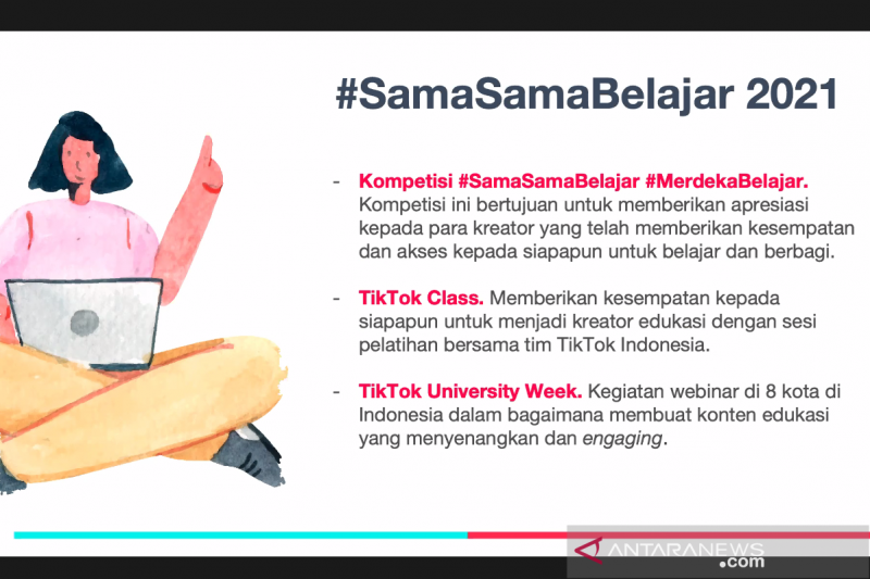Strategi TikTok dukung dunia pendidikan lewat #SamaSamaBelajar 2021