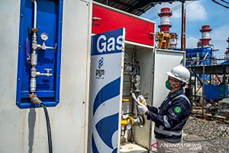 Pemakaian gas bumi bagi rumah tangga lebih murah dibanding LPG