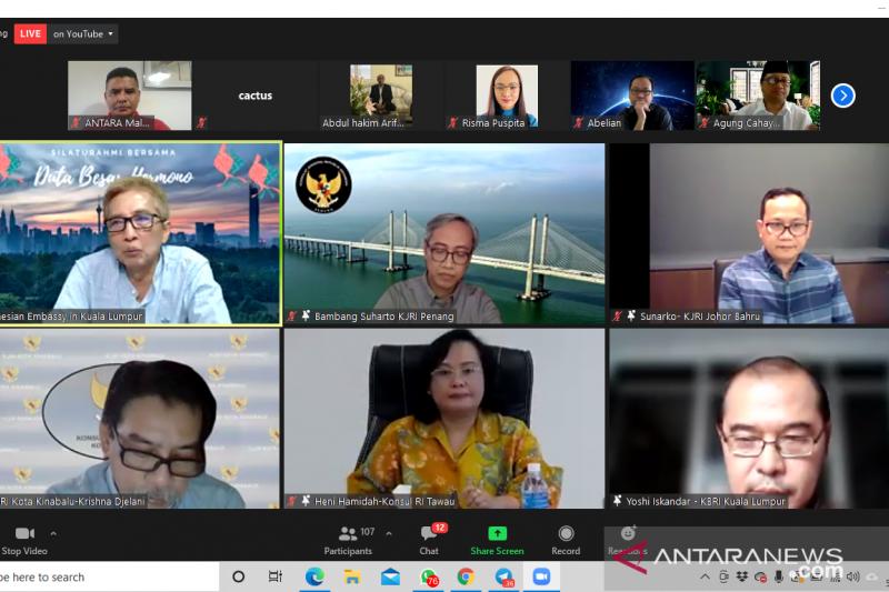 Dubes RI di Kuala Lumpur dan Konjen silaturahmi virtual dengan WNI