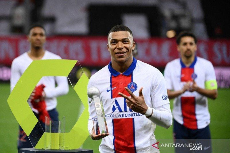 Mbappe top skor Liga Prancis tiga musim beruntun