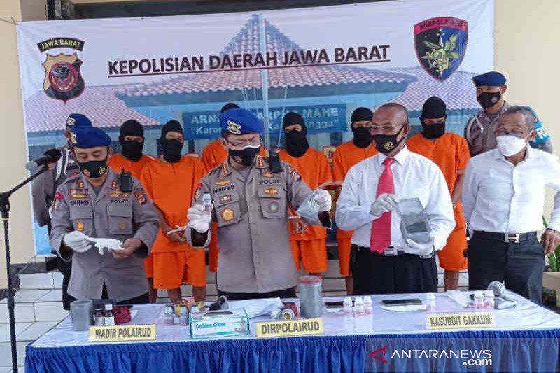 Enam nelayan gunakan bahan peledak ditangkap Ditpolairud Polda Jabar