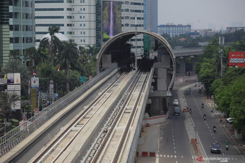 Konstruksi LRT Jabodebek capai 84,47 persen per 30 April
