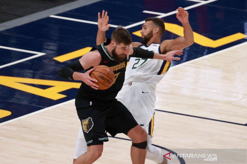 Jazz petik kemenangan 141-129 atas Grizzlies  pada gim kedua