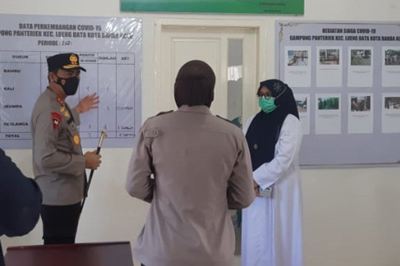 Kapolda Aceh Sidak Posko Ppkm Antara News
