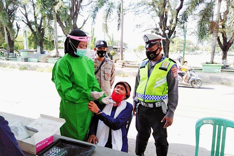 Sukseskan Kampung Sehat Jilid II, Polres Lotara rutin giat yustisi swab antigen