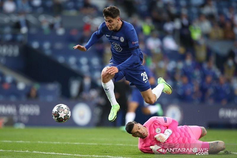 Final Liga Champions, babak pertama Chelsea unggul 1-0 lawan Manchester City