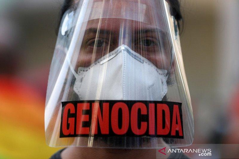 Ribuan warga Brazil protes Presiden Bolsonaro yang lambat peroleh vaksin