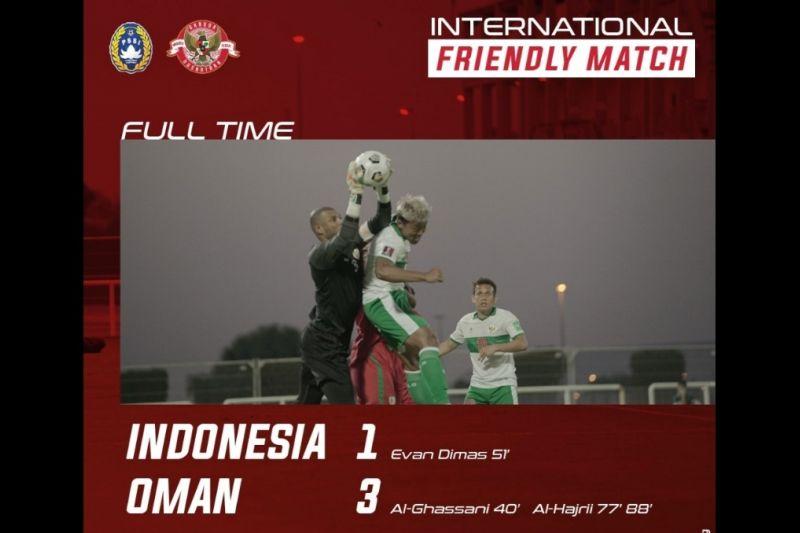 Lagi, Timnas Indonesia kalah 1-3 dari Oman