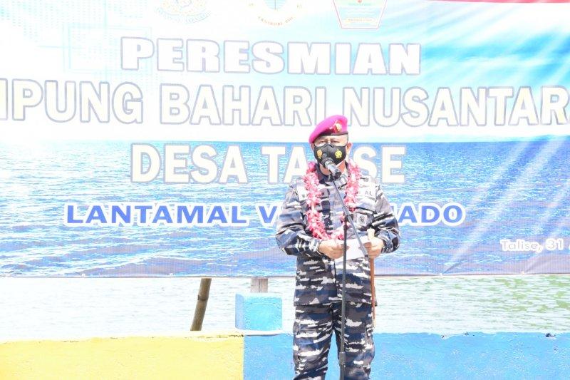 Danlantamal VIII resmikan Talise jadi Kampung Bahari Nusantara