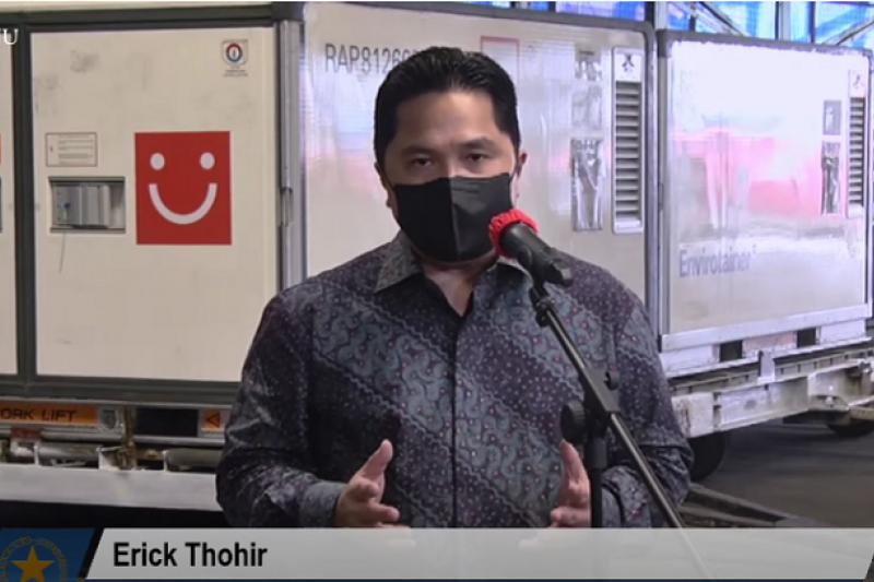 Erick Thohir berharap percepatan vaksinasi ekonomi tumbuh 4 - 5 persen