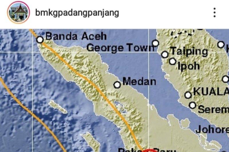 Gempa goyang Pasaman Sabtu subuh