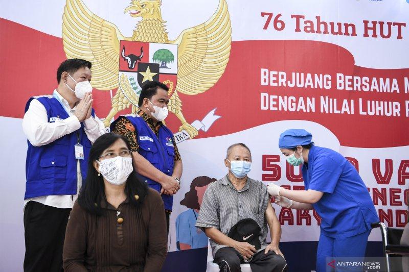 10,7 juta penduduk Indonesia selesai jalani vaksinasi COVID-19