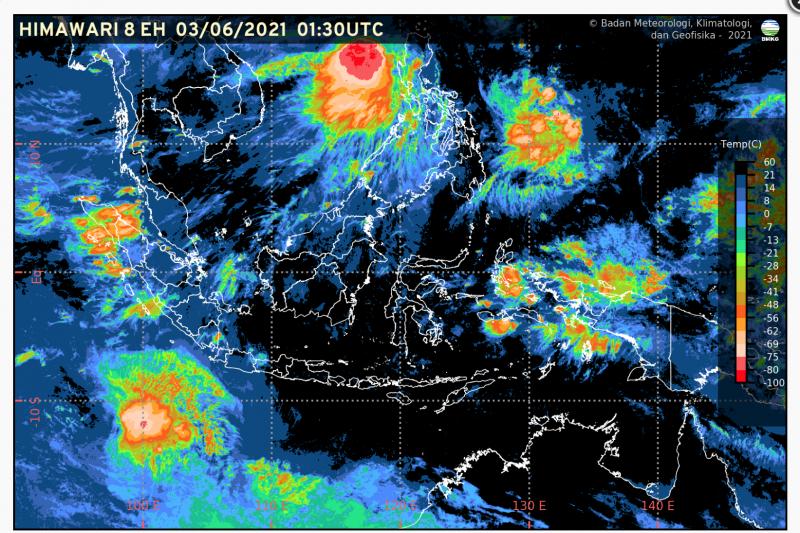 BMKG prakirakan potensi hujan lebat di wilayah Jawa, Sumatera dan Sulawesi