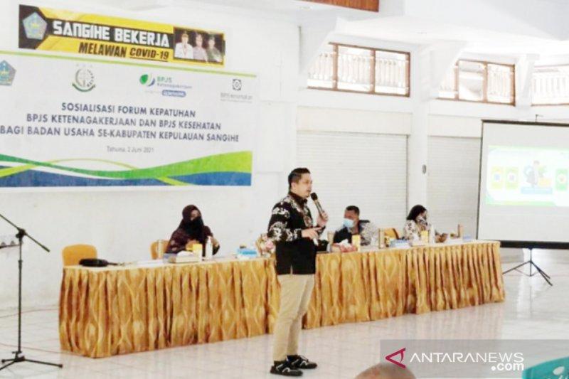 BPJAMSOSTEK Manado  lakukan sosialisasi program di perbatasan RI-Filipina