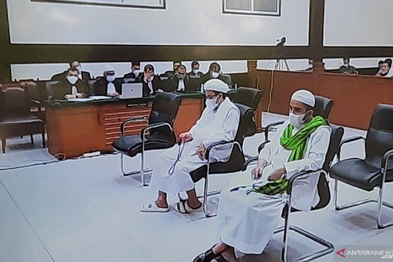 Rizieq Shihab jalani sidang pembacaan replik JPU