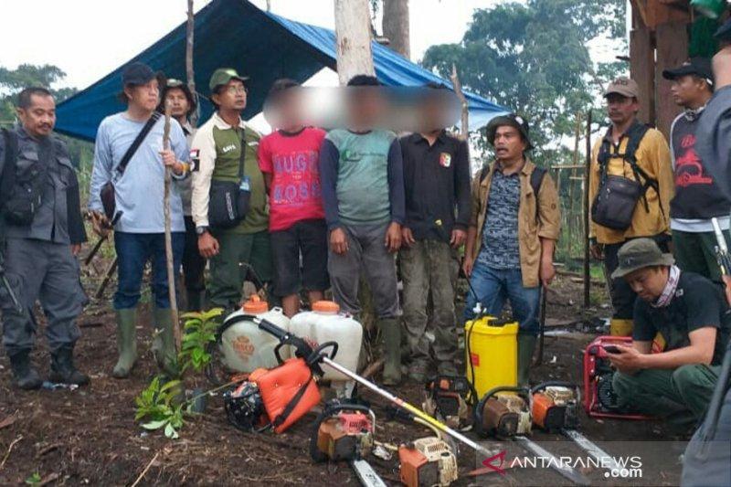 Rusak hutan di jalur pendakian Gunung Kerinci via Solok Selatan dalam kawasan TNKS, empat pelaku ditangkap aparat