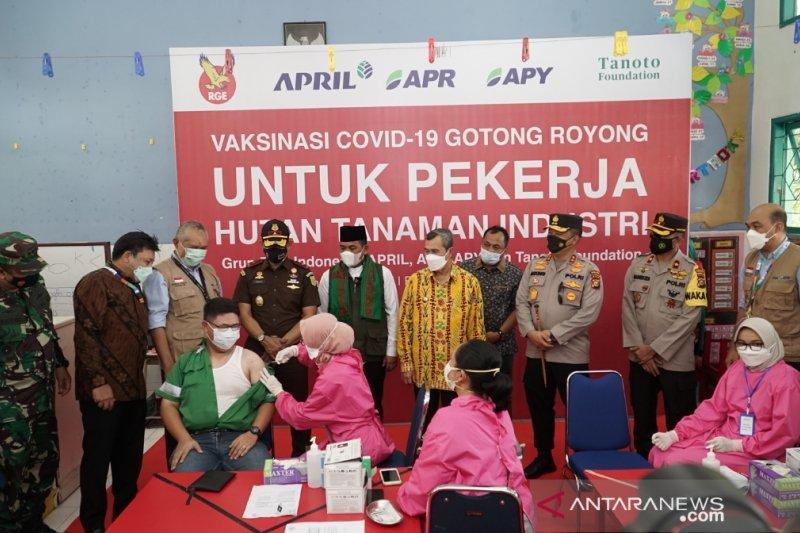 Ini perusahaan pertama laksanakan vaksinasi gotong royong di Riau