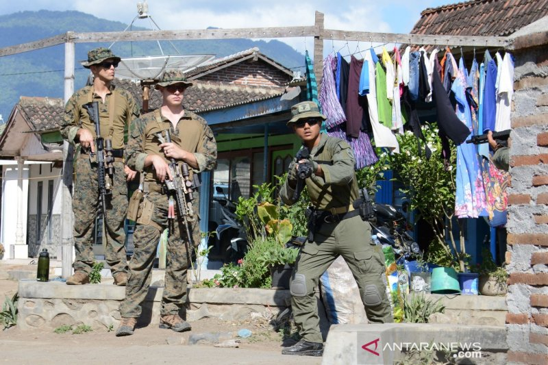 Marinir Indonesia dan AS berlatih perang kota