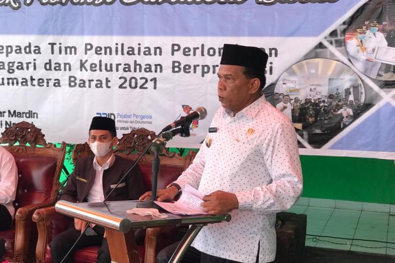 Wabup Padang Pariaman harapkan penilaian Nagari III Koto Aua Malintang menang di perlombaan tingkat Sumbar