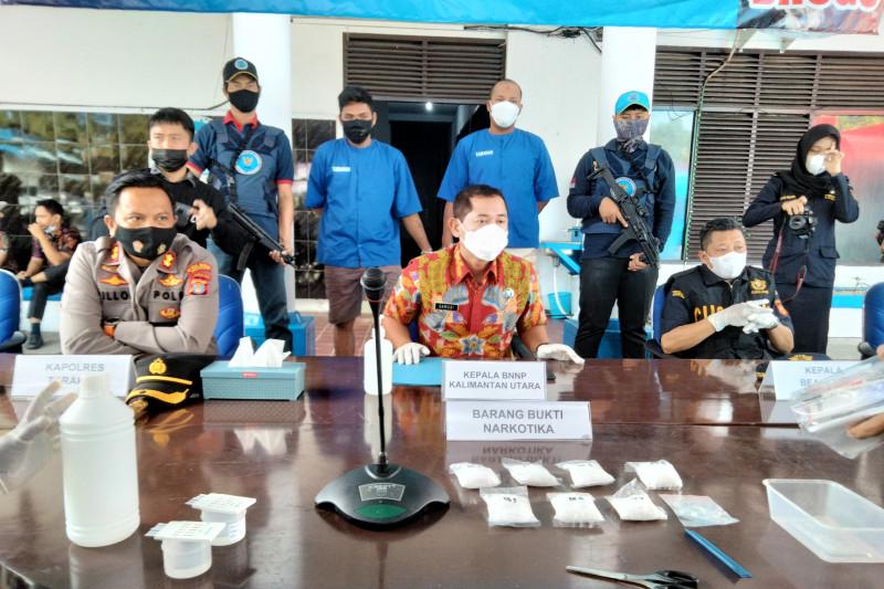 BNNP Kaltara Musnahkan 332,66 Gram Sabu Dari Dua Kurir