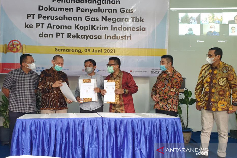 Pascaperesmian Jumperline Tambaklorok, PGN salurkan gas ke PT Aroma Kopikrim