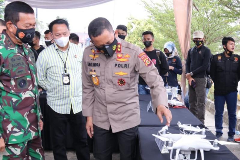 Polda Sumsel bentuk tim 'drone squad' karhutla di tingkat Polres