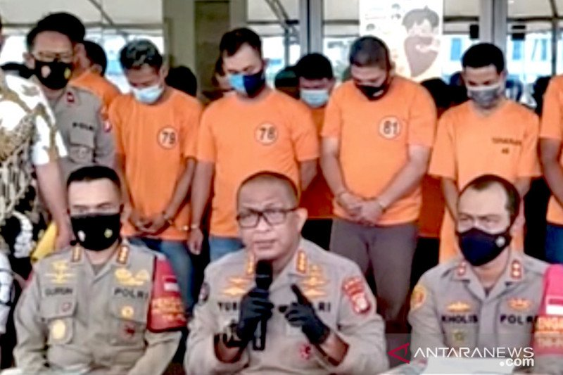 Sehari setelah keluhan sopir diterima Presiden, Polisi Jakut dan Pelabuhan tangkap 49 preman