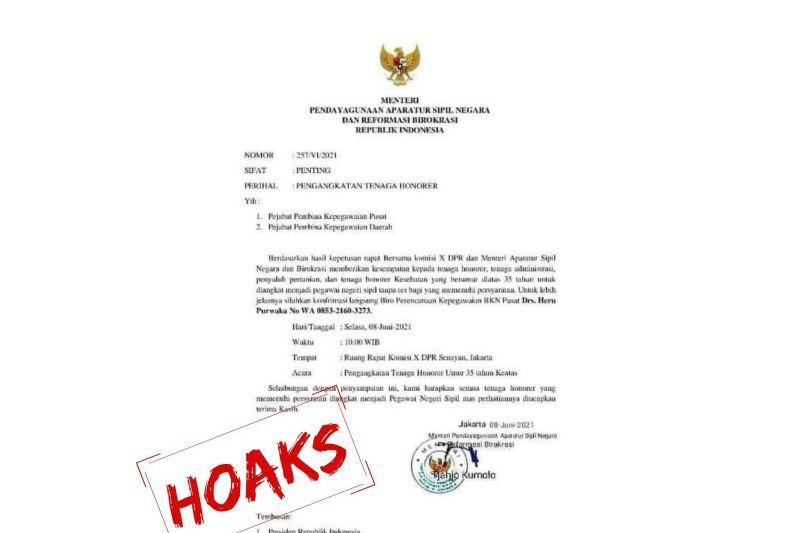Kemenpan RB: Hati-hati beredar surat palsu tentang pengangkatan honorer