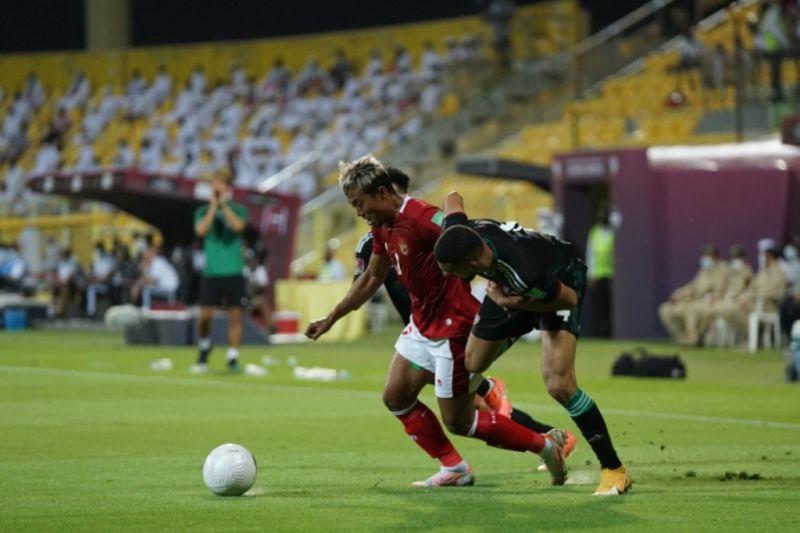 Timnas Indonesia akhiri Kualifikasi Piala Dunia dengan kalah 0-5 dari UEA