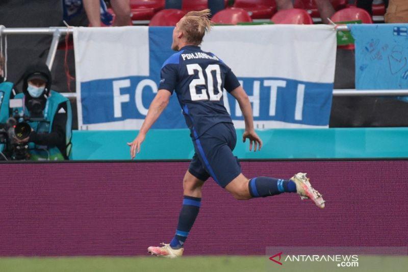 Finlandia menundukkan Denmark 1-0 setelah Christian Eriksen kolaps