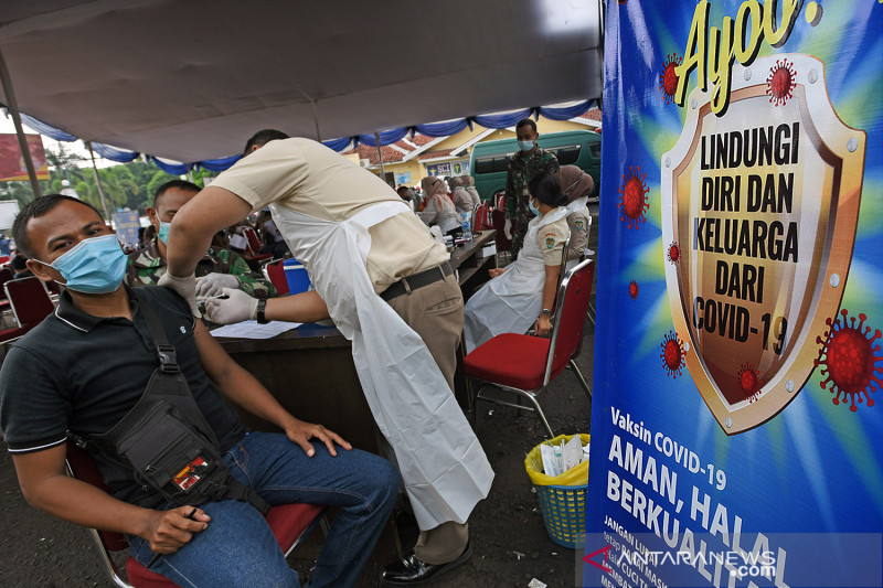 Vaksinasi COVID-19 sudah capai 20,16 juta lebih penduduk Indonesia