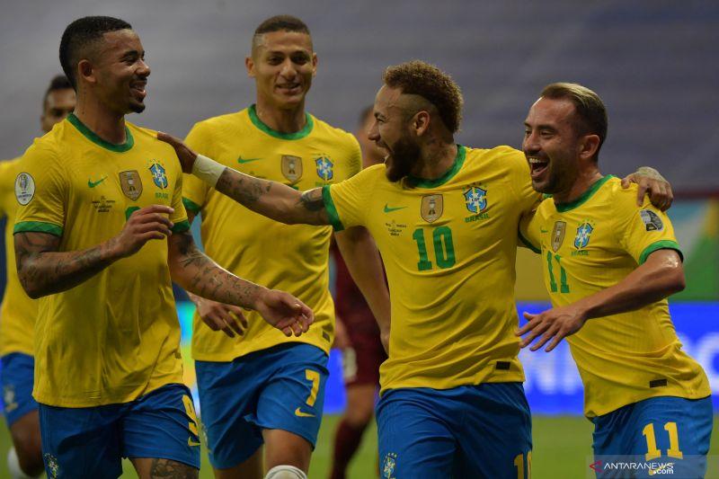 Brazil menang di laga pembuka Copa America 2021