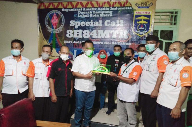 Orari Lokal Pringsewu melakukan kunjungan ke Orari Lokal Metro