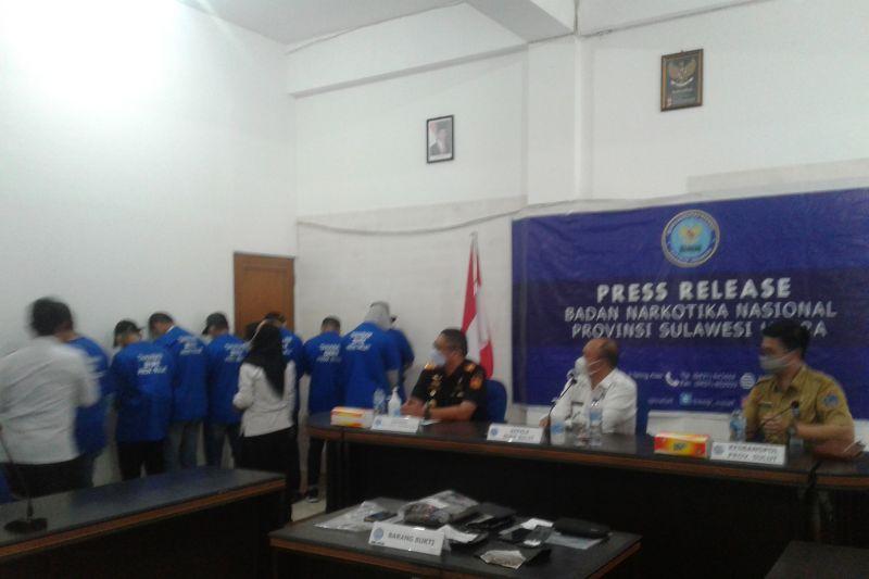 BNNP Sulut bersama Bea Cukai ungkap jaringan narkotika
