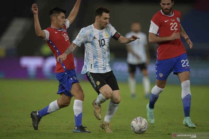 Copa Amerika, Argentina harus puas ditahan imbang Chile 1-1
