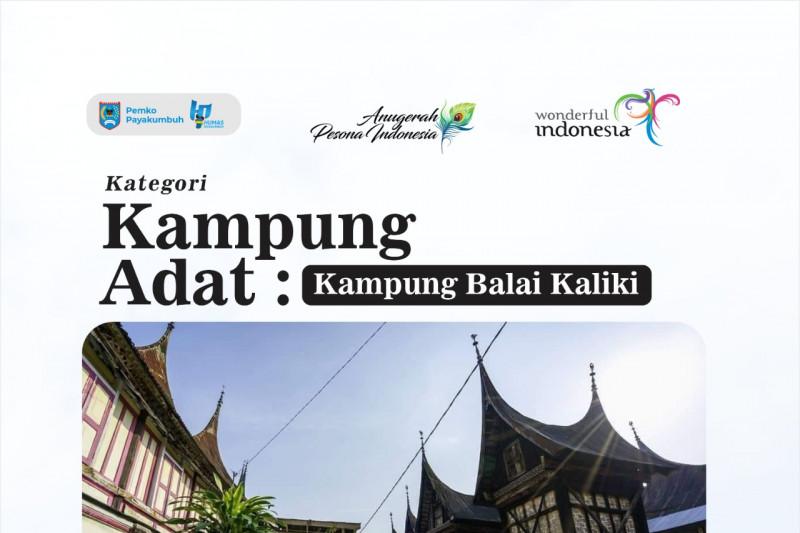 Kampung Rendang dan Adat Balai Kaliki Payakumbuh masuk nominasi  Anugerah Pesona Indonesia 2021