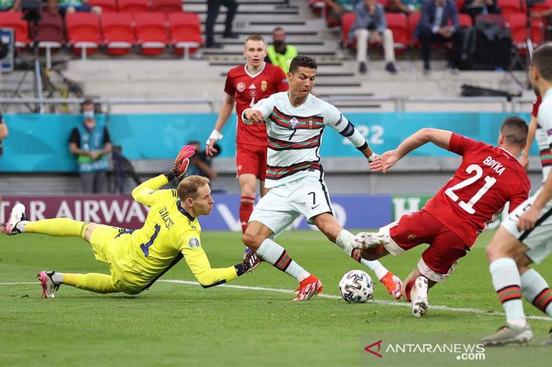 Ronaldo 'star of the match' Portugal vs Hungaria