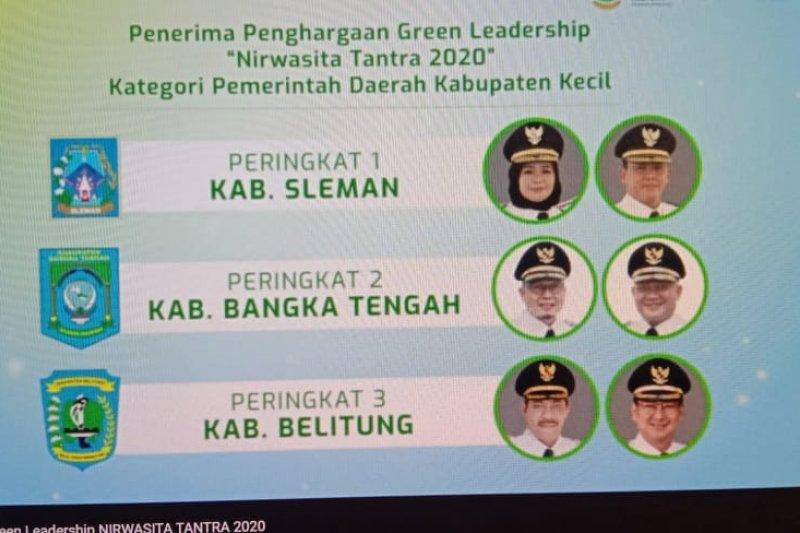 Bupati Sleman meraih penghargaan Green Leadership Nirwasita Tantra 2020