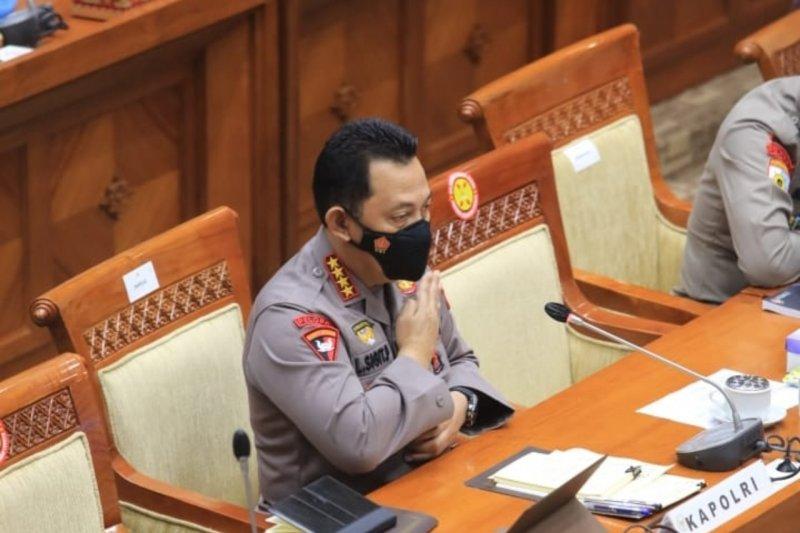Dengar pendapat Kapolri Jenderal Listyo Sigit di Komisi III DPR