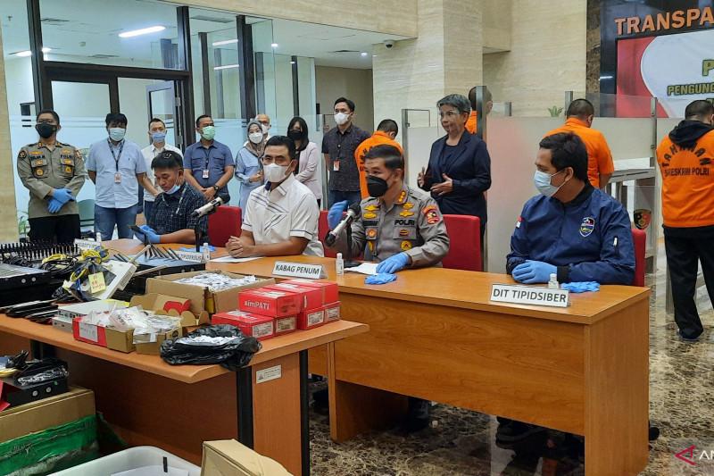 "Polri tangkap lima terduga pelaku pinjaman ""online"" jaringan Tiongkok"